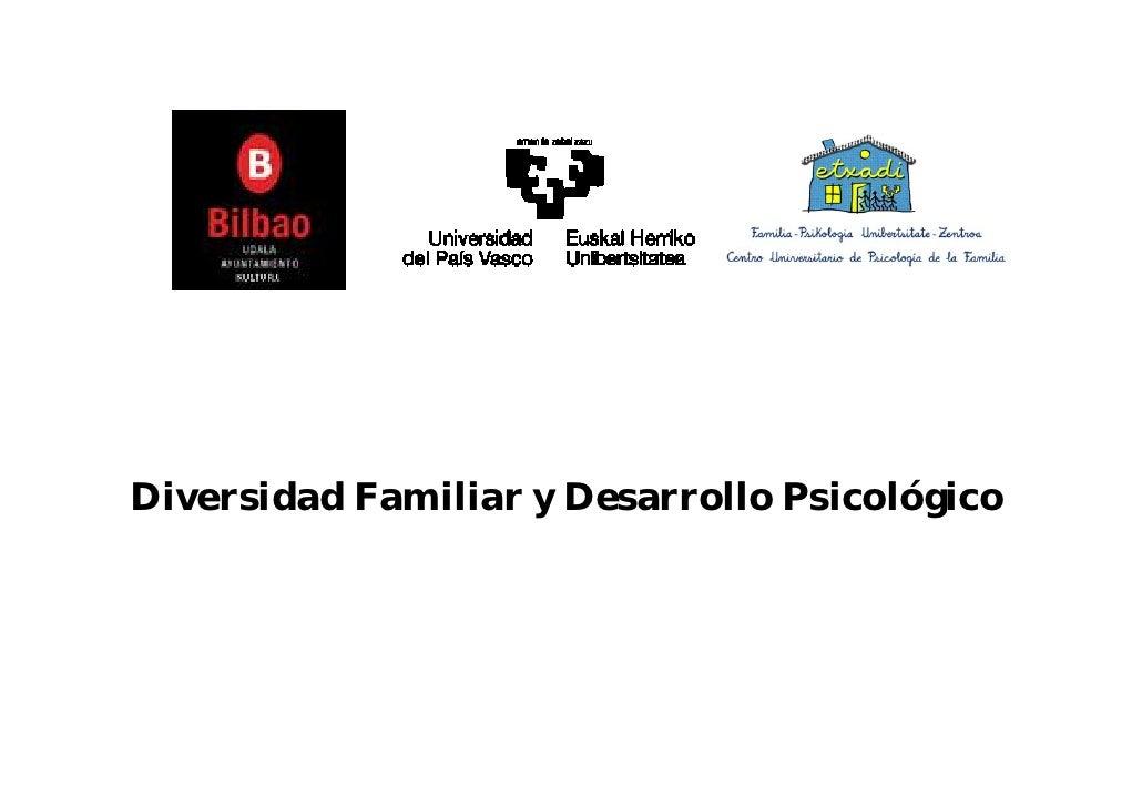 Diversidad Familiar y Desarrollo Psicológico