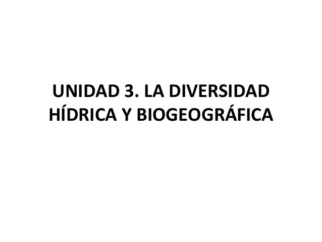Diversidad hídrica
