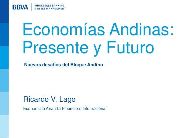 Economías Andinas:Presente y FuturoNuevos desafíos del Bloque AndinoRicardo V. LagoEconomista Analista Financiero Internac...