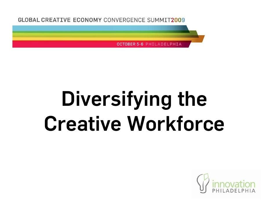 Diversifying The Creative Workforce