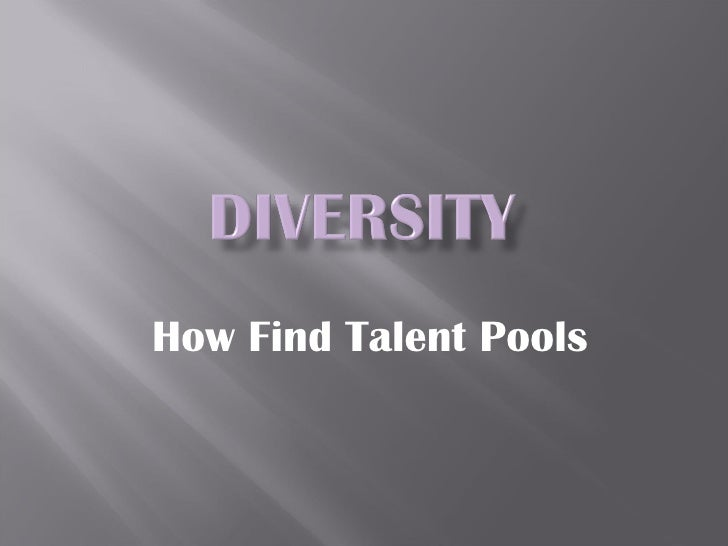 How Find Talent Pools