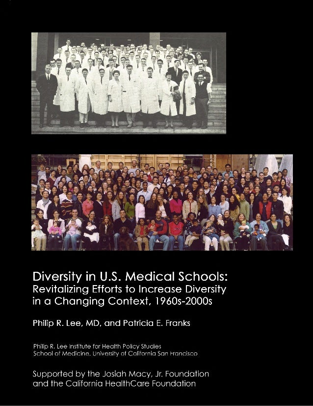 Diversity in U.S. Medical Schools: Revitalizing Efforts to Increase Diversity in a Changing Context, 1960s-200...