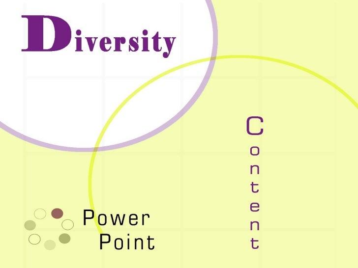 DIVERSITY POWERPOINT