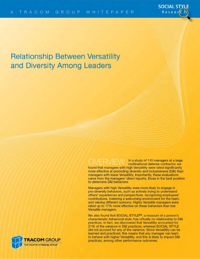 Diversity and Leadership Whitepaper