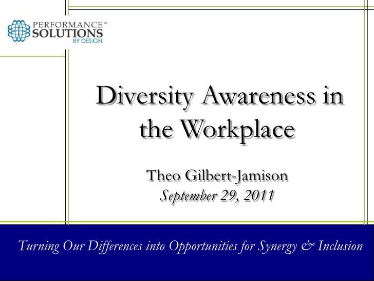 Diversity Awareness in the Workplace