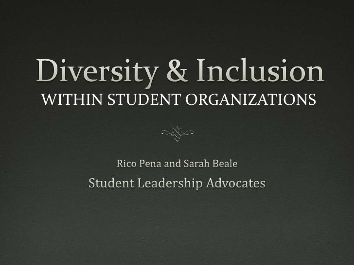 WITHIN STUDENT ORGANIZATIONS