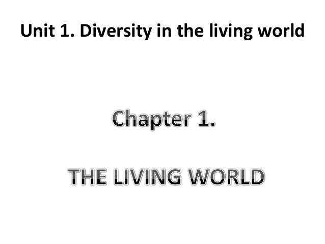 diversity in the living world Biol 101 s tudy g uide: q uiz 8 quiz preparation tasks: your answers and notes 14 an infinity of diversity 141 the challenge of classifying life's diversity a problem that confounds attempts to organize the entire living world for study is that it is unknown how many separate _____ of life forms exist on this planet.