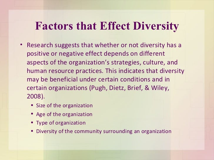 diversity in the workplace term papers Diversity in the workforce is an offshoot of anti-discrimination legislation which seeks to bring workplace harmony, growth, productivity, creativity and profitability to organizations, through.