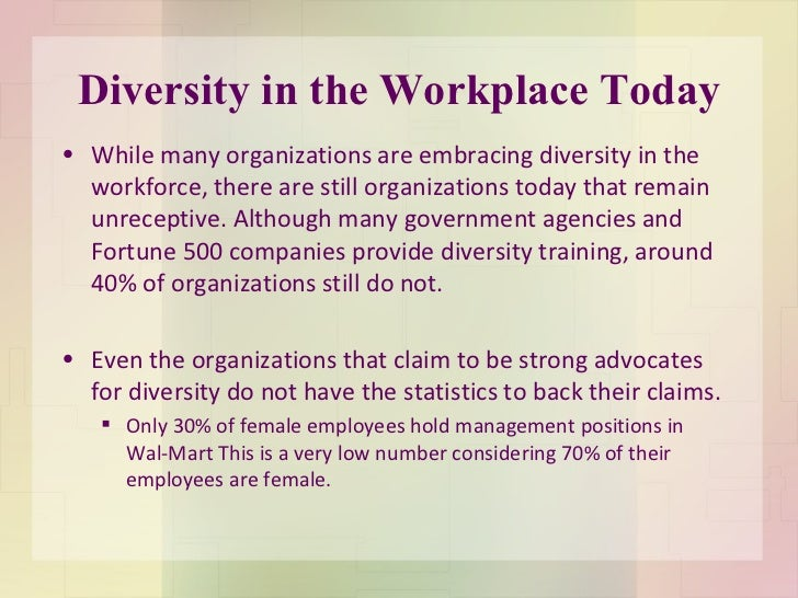 diversity in the workplace term papers Diversity in the workplace free essay, term paper and book report diversity is measured in many different ways gender, sexual orientation, religion and even geographical differences are just a few that affect diversity.