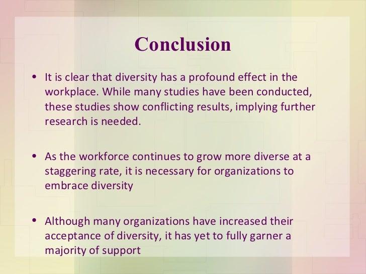 Diversity conclusion essay
