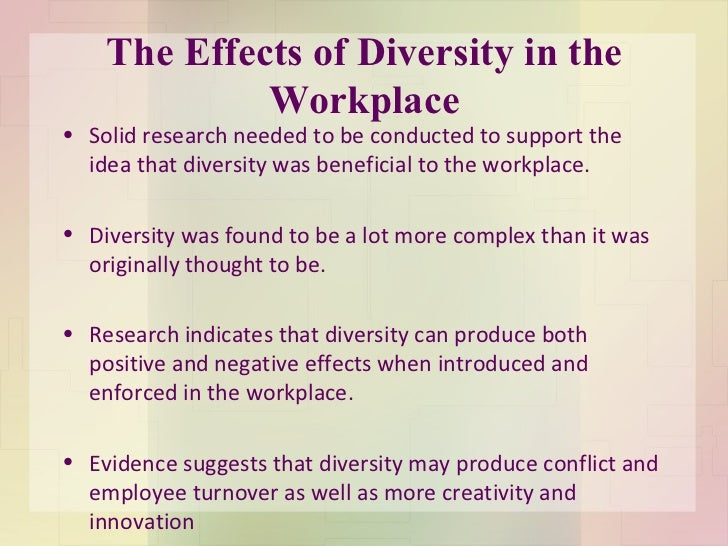 Research paper workplace diversity