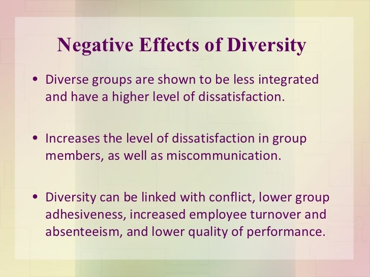 the effects of diversity on the social structure of a university Impact of cultural diversity on organizations starting with a historical background of the social composition of the military is changing.