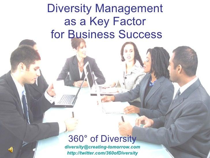 Diversity Management As A Factor Of Economic Success 0