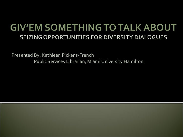 Diversity presentation