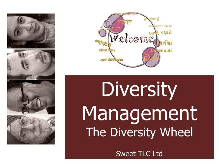 Diversity Management The Diversity Wheel Sweet TLC Ltd