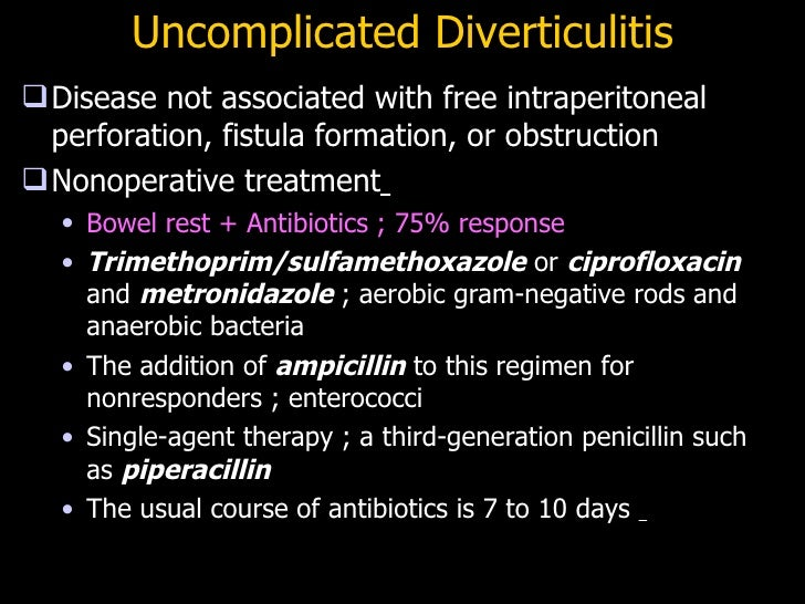 Cipro flagyl for diverticulitis dosing