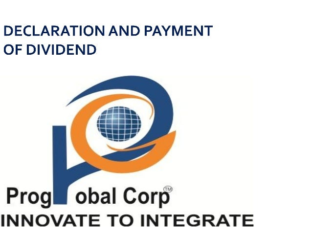 DECLARATION AND PAYMENT OF DIVIDEND COMPANIES ACT 2013