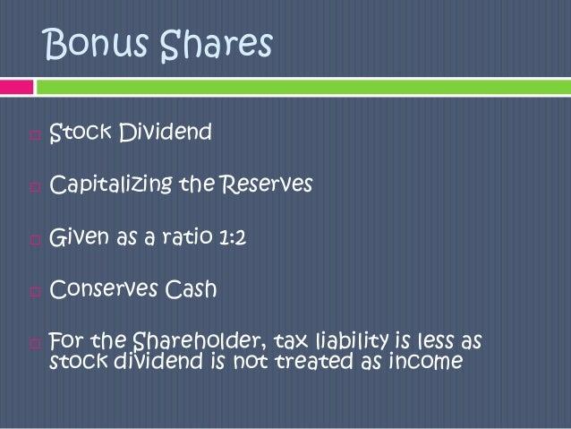 stock dividend essay