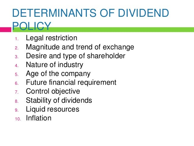 determinants of dividend policy of cement This research aims to find out the capital structure determinants and  securities  issues, financing of mergers & acquisitions, dividend policy and so on.