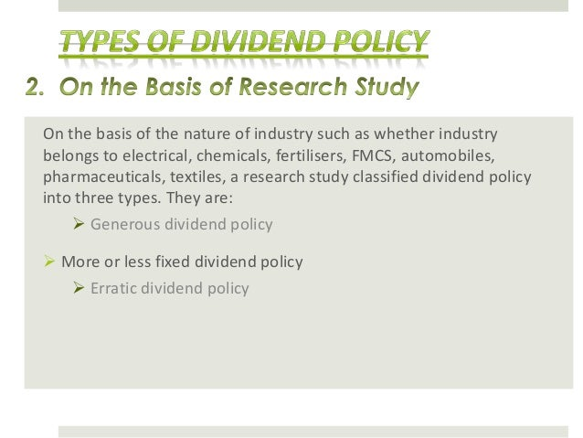 Research papers dividend policy theories