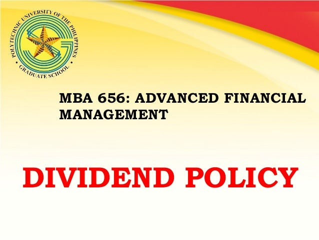 FINANCIAL MANAGEMENT PPT BY FINMANDividend policy joseph agayatin&jezza deauna