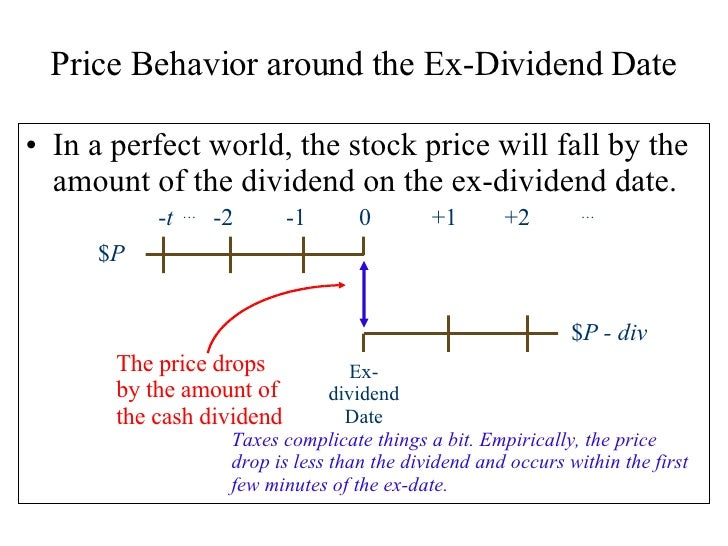T ex dividend date
