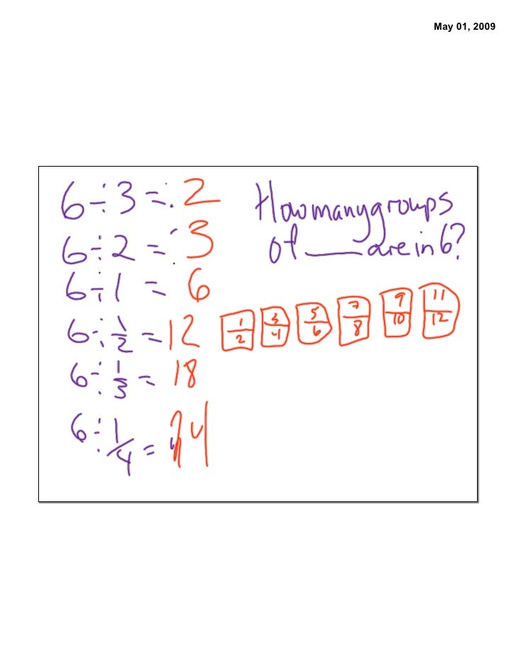 Dividing Fractions 1