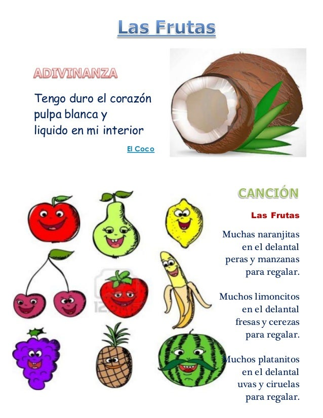 Rimas De Frutas Y Verduras | newhairstylesformen2014.com