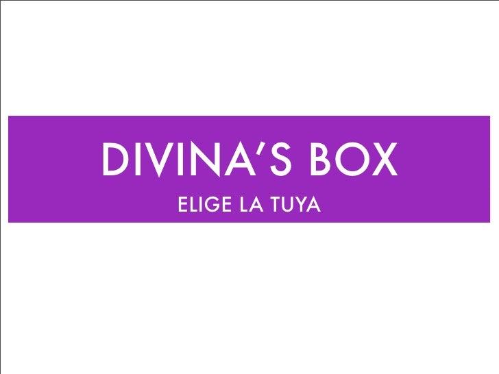 DIVINA'S BOX    ELIGE LA TUYA