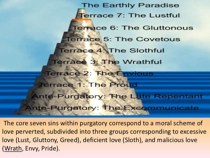 the universal deadly sins in dante alighieris divine comedy When does dante write the divine comedy malaria how does what do the 100 cantos represent deadly sins/ cardinal personal, universal what are the 2 levels.