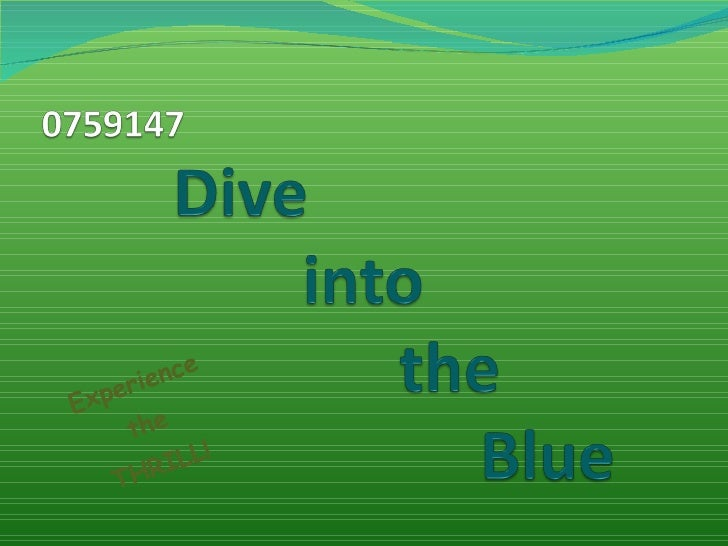 0759147 Dive Into The Blue