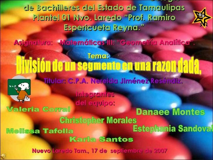 """Colegio de Bachilleres del Estado de Tamaulipas Plantel 01 Nvo. Laredo """"Prof. Ramiro Espericueta Reyna."""" Nuevo Laredo Tam...."""