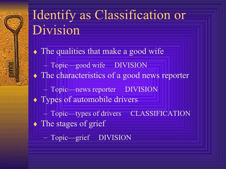 classification division essay types drivers These are the five types of shoppers ranked according to if you are the original writer of this essay and no longer wish to have the essay published on the.