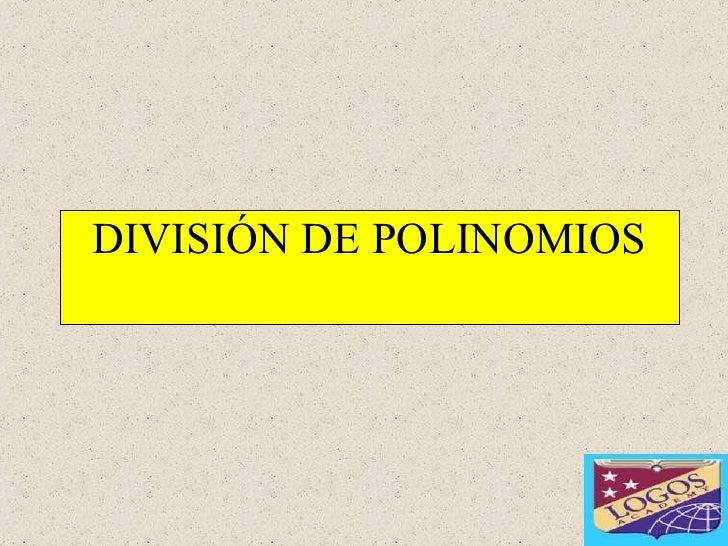 División de dos polinomios