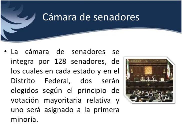 Division de poderes for La camara de senadores