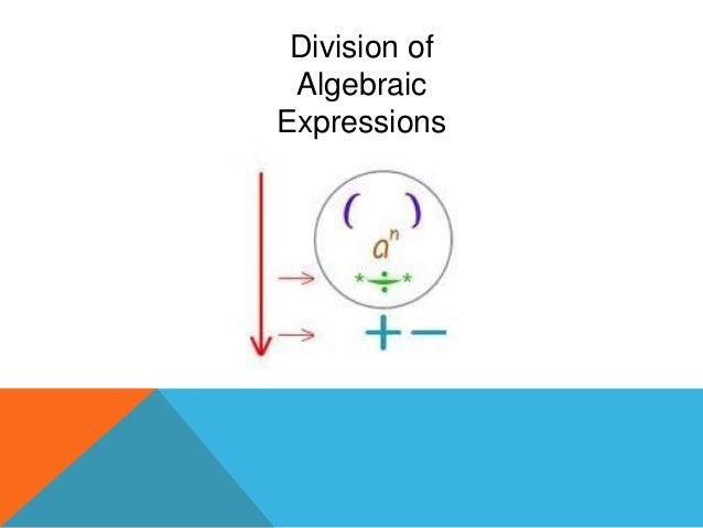 Division of Algebraic Expressions