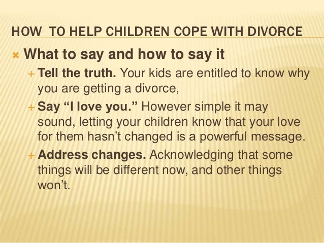 essay on divorce and children 2014-5-14  i know that divorce is bad for children i know it because i've seen it, i've lived it.