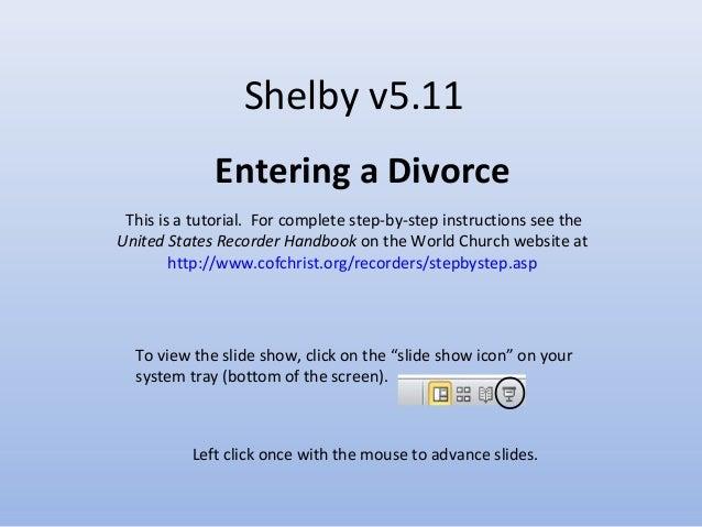 Tutorial - Divorce