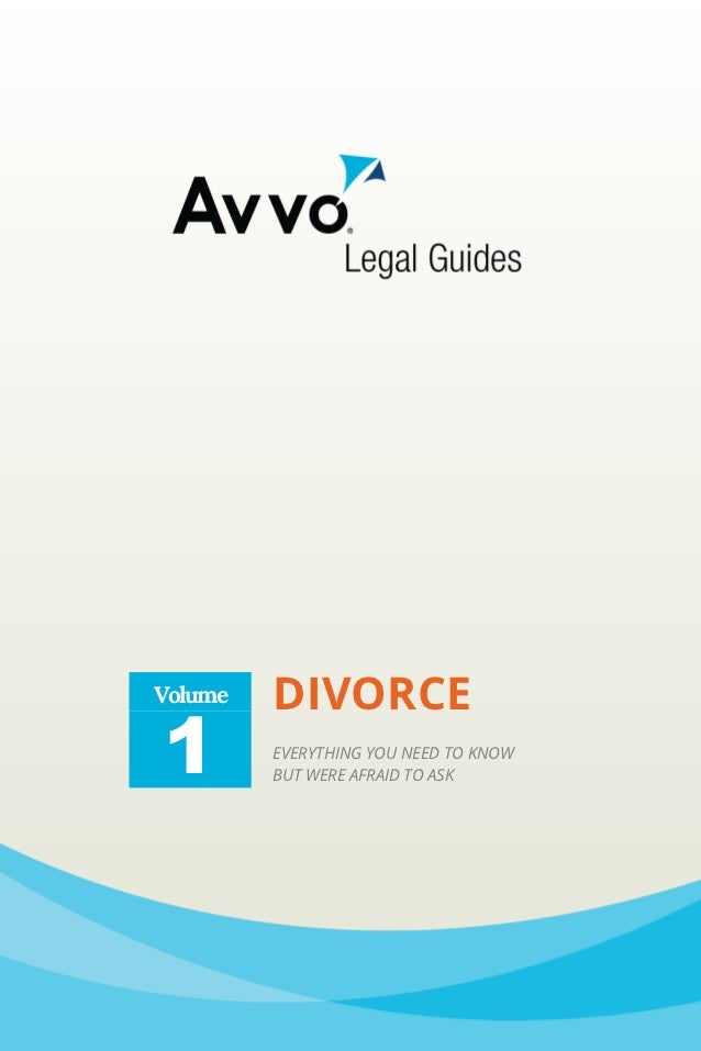 Volume   DIVORCE1        EVERYTHING YOU NEED TO KNOW         BUT WERE AFRAID TO ASK
