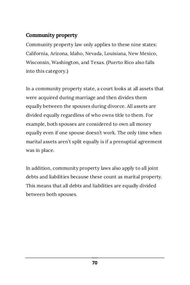 Community Property Debt Texas