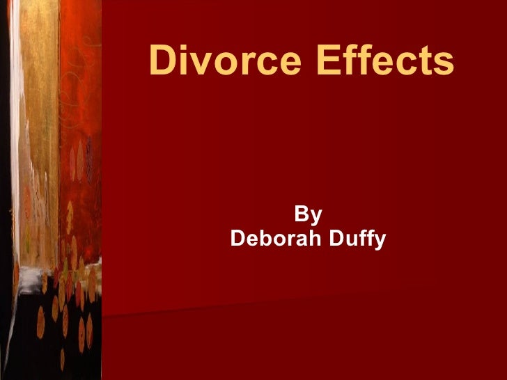 Divorce Effects