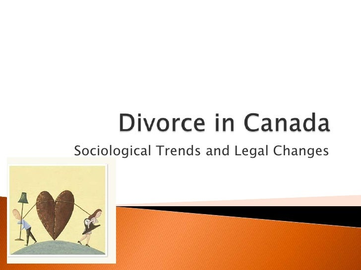 Sociological Trends and Legal Changes