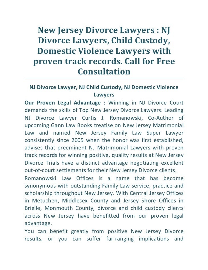 New Jersey Divorce Lawyers : NJ    Divorce Lawyers, Child Custody,    Domestic Violence Lawyers with   proven track record...