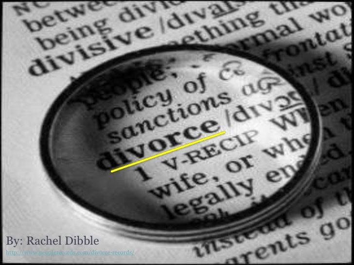 By: Rachel Dibblehttp://www.peoplerecords.com/divorce-records/