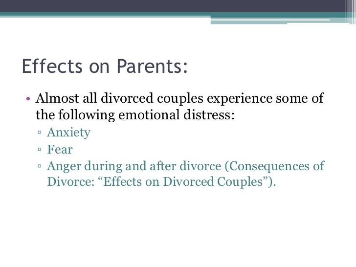 essay divorce affects children