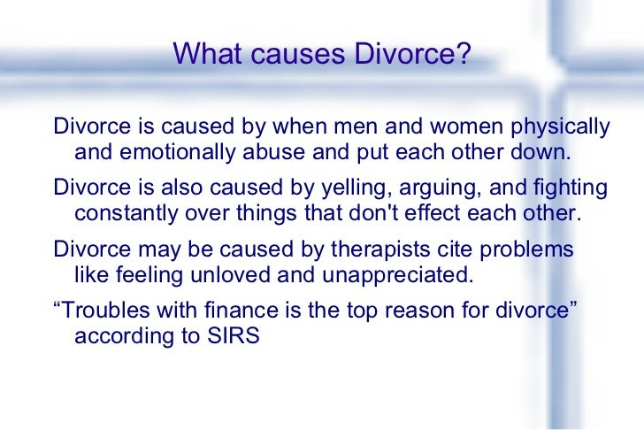 cause and effect essay about divorce