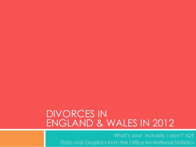 Divorces in England and Wales in 2012