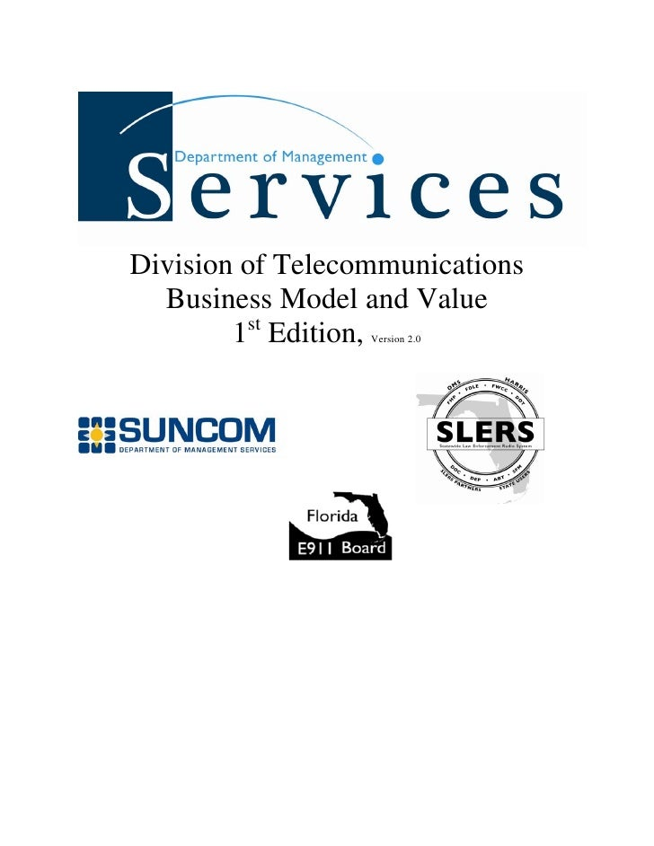 Division of Telecommunications  Business Model and Value        1st Edition,                  Version 2.0
