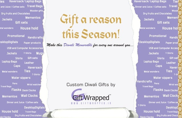 Corporate Gifts - Diwali catalogue - Gift Wrapped