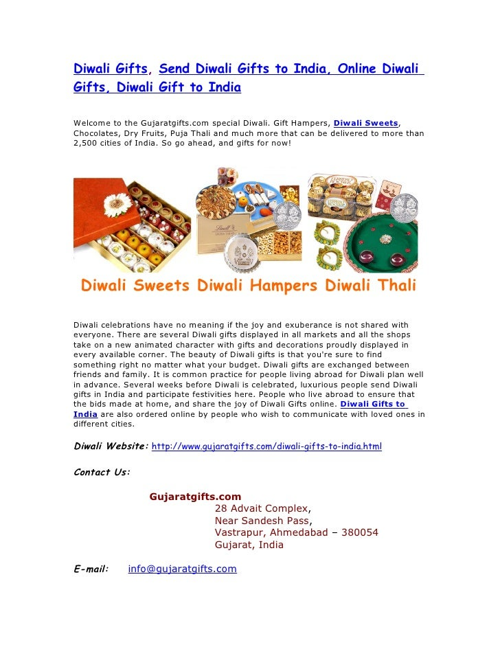 Diwali Gifts, Send Diwali Gifts to India, Online DiwaliGifts, Diwali Gift to IndiaWelcome to the Gujaratgifts.com special ...